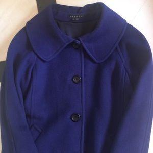 Theory purple wool peacoat - Large
